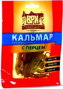 ВРК Кальмар вяленый щупальца с перцем 20 г*100